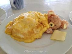 """Kawaii! We've posted some pretty cute food before, but this dish is off the charts. Are you strong enough and hungry enough to eat food this cute?  This is actually the second time we've posted a teddy bear omelette. (Here's the first one) But this time, thanks toRedditor Myself91, we've learned that this adorable dish has a name. Rilakkuma Omurice or the """"Relaxing Bear Omelette"""" is made using fried rice and often topped with ketchup. Here's a recipe alo"""