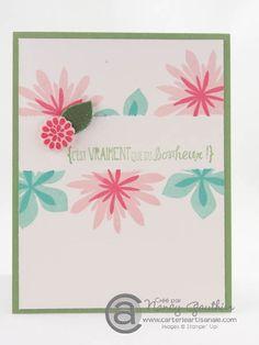 """Wow!   Est-ce que vous confectionnez des cartes """"toutes occasions""""? Vous savez, ce genre de petite carte qui fait passe-partout! En voici un exemple ... par Nancy Gauthier, démonstratrice Stampin' Up!"""