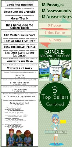 Vigorous standardized testing has become part of our kiddos' lives. Our bundle is ideal for the preparation that must be done.  In order to score well on the assessments included in our test prep bundle, the students must engage in close and critical reading.    Included in this bundle: - 5 Non - Fiction Assessments  - 5 Fiction Assessments  - 5 Poetry Assessments
