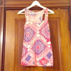 American Eagle Patterned Top Size small but ae runs big Tops Tank Tops
