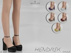 Hendrik Shoes for The Sims 4