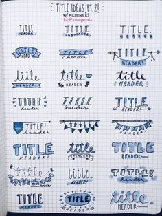 Bullet Journal Banners and Headers - Productive & Pretty B. - Bullet Journal Banners and Headers – Productive & Pretty Bullet journal banners and headers Calligraphy: A new Profitable Organization Bullet Journal School, Bullet Journal Headers, Bullet Journal Banner, Bullet Journal Lettering Ideas, Bullet Journal Notebook, Bullet Journal Ideas Pages, Bullet Journal Inspiration, Journal Prompts, Bullet Journal Writing Styles
