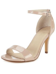 Gabby heel sandals, extra wide fit. Heel height: 3.5 inch. Colour: Nude. Upper: Other materials. Lining and sock: Other materials. Sole: Other materials.