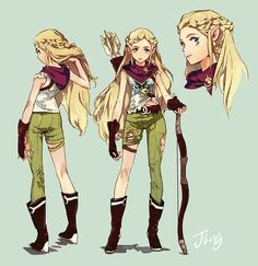 Desert elf archer by hankyung ryu character design* dessin, Female Character Design, Character Creation, Character Design References, Character Design Inspiration, Character Concept, Character Art, Concept Art, Character Sheet, Dnd Characters