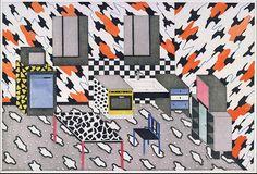 printeresting:Natalie Du Pasquier, Kitchen with Cloud Pattern, Etching…