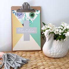 Floral Name Print