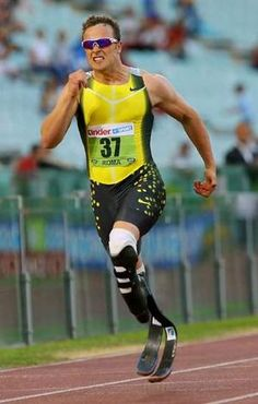 265d6ccb5a0 Oscar Pistorius - double amputee runner in the Summer Olympics.
