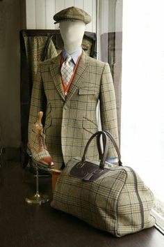 Everything but the shoes here, as this fabric is beautiful - just not all at the same time, please!!!  - Marc Guyot Men