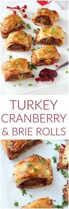 A delicious festive take on the classic sausage roll, made instead with turkey mince, cranberry sauce and brie. These mini pastry rolls will make a fantastic appetizer of party snack this Christmas! christmas food and drink Christmas Buffet, Christmas Party Food, Xmas Food, Christmas Cooking, Christmas Christmas, Christmas Turkey, Christmas Lunch Ideas, Christmas Heaven, Christmas Entertaining