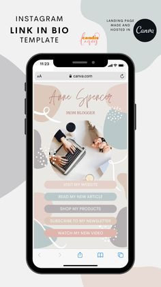 Your link in bio had necer looked this good! Save time on social media marketing with these Instagram templates! Super affordable and easy to use. #biolink #customizablebiolink #socialmediamarketing