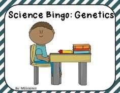 Science Bingo: GeneticsScience Bingo is a wonderful way to engage your students in a fun review of their vocabulary terms! Included in this file:Suggested Use: Explains how I like to use the cards in my classroom. Bingo Calling Cards: 25 vocabulary words with their definitions on a task card.Bingo Calling Sheet: This sheet lists the words in case you dont want to call out the definitions. 26 Pre-Made Bingo Boards: Ready to print (and laminate) with the words arranged in random order.