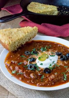 Slow Cooker Low Carb No-Bean Chili- gluten free, keto, THM, www.sugarfreemom.com