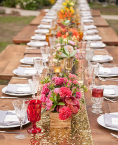 You'll Love the Bright Colors and Tropical Bouquets in This Granola-Glam Wedding