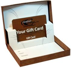 Gift card box with a pop up insert to make giving a gift card to someone not suck.