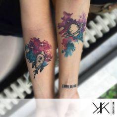 Rocket & space tattoo