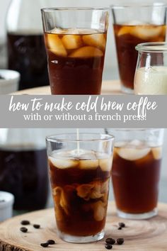 This cold brew coffee recipe includes easy step-by-step instructions to make smooth, delicious cold brew at home with a french press or cheesecloth! #coldbrew #coffee #coldbrewrecipe