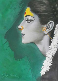 Vijaya Laxmi exhibits the power that a woman possesses through her illustration series, 'Devi', 'Shiva-Shakti' and various other series.