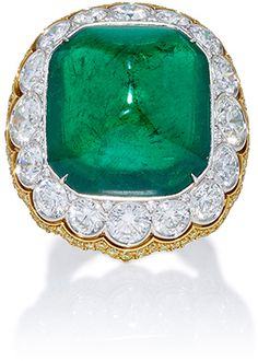 Bayco Colombian Emerald and Diamond Ring