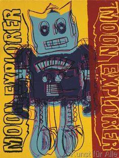 Andy Warhol - Moon Explorer Robot, 1983 (blue & yellow)