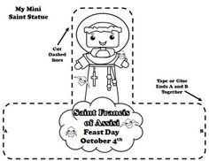 OCTOBER CATHOLIC SAINT CALENDAR ACTIVITIES - SAINT FRANCIS OF ASSISI - TeachersPayTeachers.com