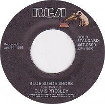 45cat - Elvis Presley - Blue Suede Shoes / Tutti Frutti - RCA Gold Standard - USA - 447-0609