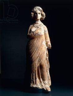 A limestone statue of Princess Doshfari, daughter of Sanatruq II of Hatra, 138A.D