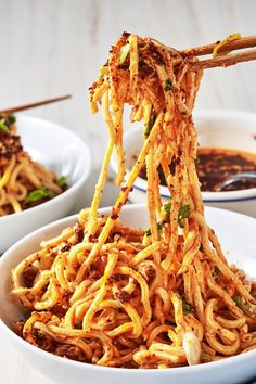 Dish, Food, Fried noodles, Cuisine, Hot dry noodles, Chow mein, Noodle, Ingredient, Yi mein, Mie goreng,