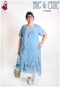#bigenchic #grotematenmode #bigsize #big #kleding #maatjemeer #xxxl  Prachtige zomerjurk van Zedd plus.