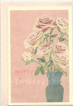 Maileg Happy Birthday Postcard with Envelope