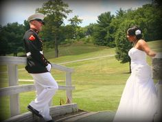 Beautiful interracial military couple on their wedding day #love #wmbw #bwwm