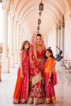 Indian Bride with her flower girls! | Photo by Limelight