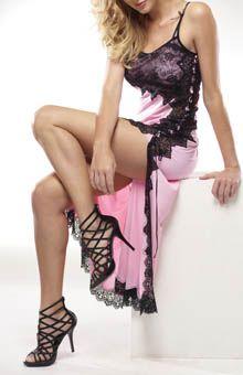 Rhonda Shear Sweet Beverly Butterknit Lace Long Nightgown