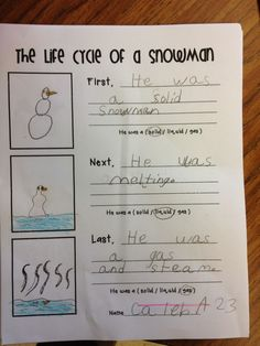Simply Second Grade: Search results for Snowman Primary Science, Elementary Science, Science Classroom, Science Education, Teaching Science, Science Activities, Education Quotes, Teaching Ideas, Classroom Ideas