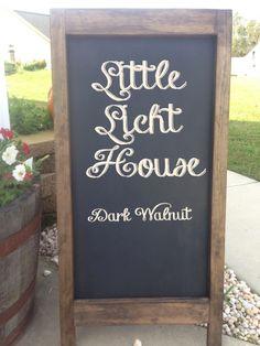Rustic wedding chalkboard easel by LittleLichtHouse on Etsy, $84.00