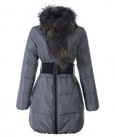Moncler Lievre Womens Coat Designer Long Gray www.onlakemac.com Moncler  Jacket Women, f3d76a433f9