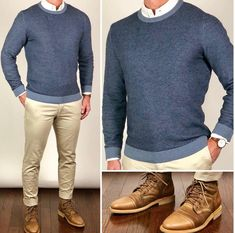 style for men casual Mens Office Fashion, Mens Fashion Wear, Gq Mens Style, Men Style Tips, Stylish Men, Men Casual, Casual Styles, Mens Fashion Sweaters, Fashion Shirts