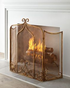 Simone Fireplace Screen at Horchow.