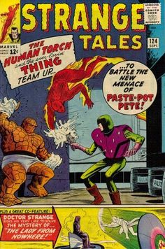 Strange Tales #124. The Human Torch and the Thing vs Paste Pot Pete.