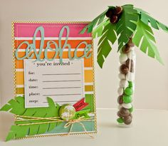 Tropical Party Invitation and Favor