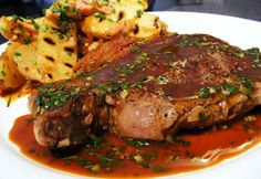 Christmas Dinner Ideas - Christmas Dinner Ideas - Beef steak with lemon juice and herbs