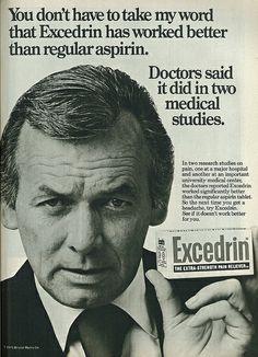 1975 Excedrin Ad, with Actor David Janssen | Flickr - Photo Sharing!