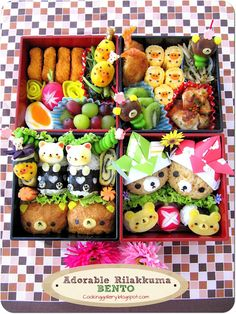 Cooking Gallery: Adorable Rilakkuma Bento. Must make.