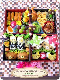 日本人のごはん/お弁当(5月編) Japanese meals/Bento リラックマ行楽弁当 Cooking Gallery: Adorable…