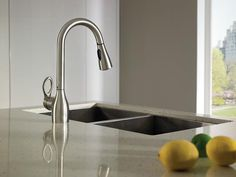 Moen Brushed Nickel One-Handle High Arc Kitchen Faucet