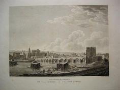 Vista General de Córdoba. Grabado en plancha de cobre hacia 1820 de un dibujo de Liger.