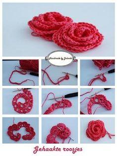 Bekijk de foto van ilssvg met als titel gehaakte roosje tutorial en andere inspirerende plaatjes op Welke.nl.