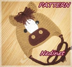 Hey, I found this really awesome Etsy listing at https://www.etsy.com/listing/218756214/pony-horse-crochet-hat-pattern-baby-to