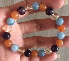 #stonebracelet  #bracelet #healingcrystals #fengshui  #charmbracelet #healingstone Healing Stones, Crystal Healing, Aqua Marine, Stone Bracelet, Carnelian, Aries, Amethyst, Beaded Bracelets, Jewelry