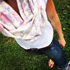 Beautiful handmade Floral scarf by #ShopNatalieMay