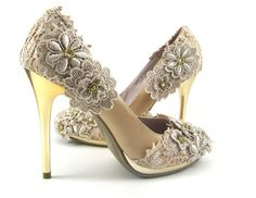 Beautiful Gatsby Style Wedding Heels #wedding #gatsby #shoes #heels